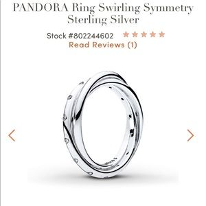 Pandora Swirling Symmetry Ring. 3 connected bands.